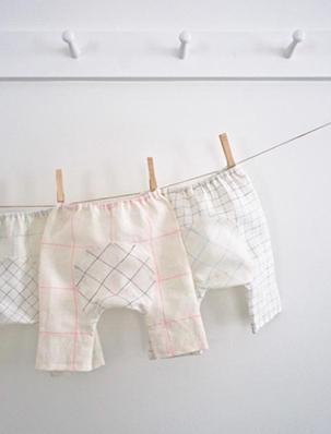 Baby Pants in Linen Grid | Purl Soho