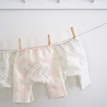 Baby Pants in Linen Grid