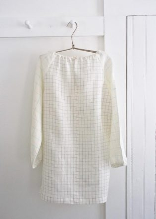 Sewn Raglan Shirt + Tunic in Linen Grid | Purl Soho
