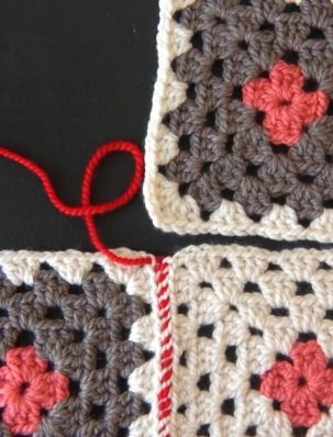 Sewing Crocheted Squares Together | Purl Soho