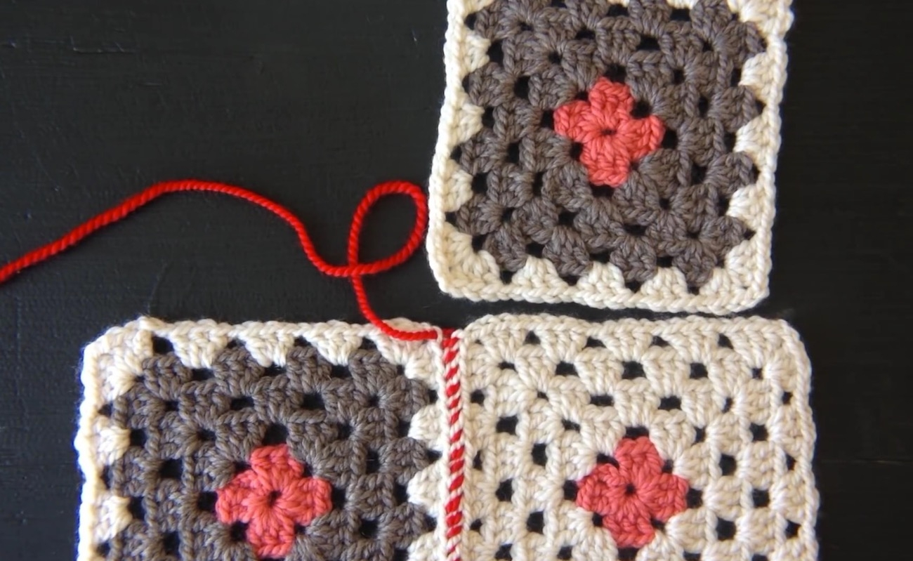 Sewing Crocheted Squares Together