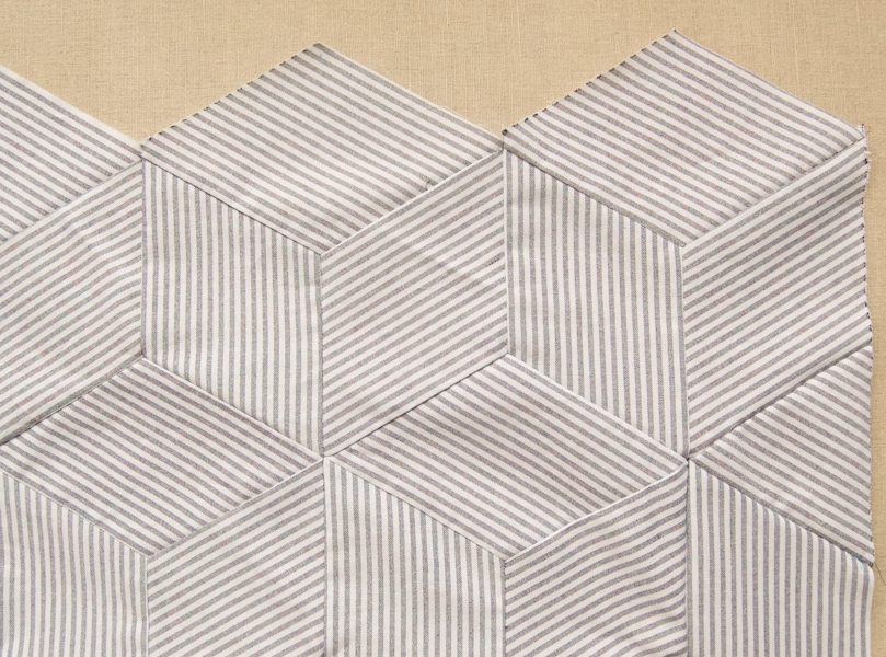 Tumbling Blocks Quilt | Purl Soho : tumbling blocks quilt pattern template - Adamdwight.com