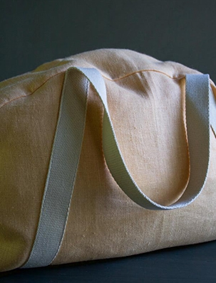 Overnighter Bag in Warsa Linen | Purl Soho