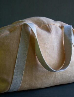 Overnighter Bag in Warsa Linen | Purl Soho
