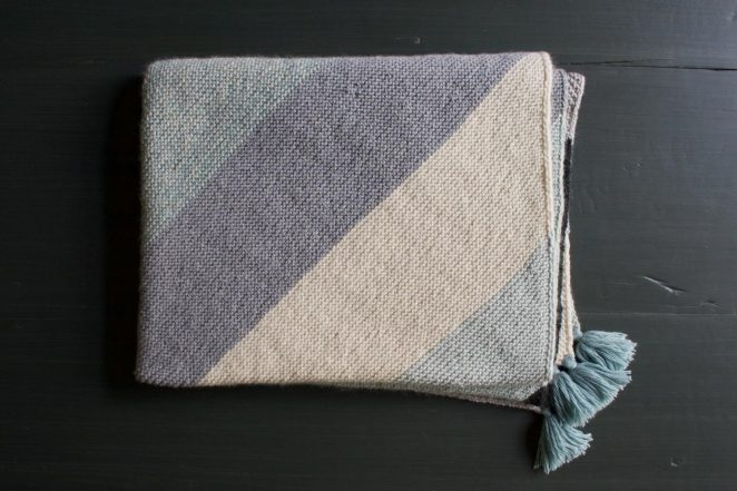 Rectangular Colorblock Bias Blanket | Purl Soho