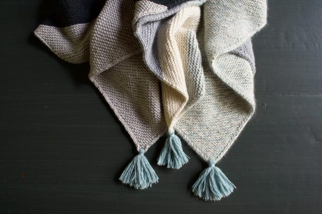 Rectangular Colorblock Bias Blanket | Purl Soho