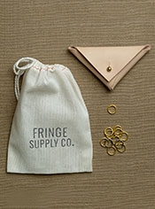 Leather and Brass Stitch Marker Set