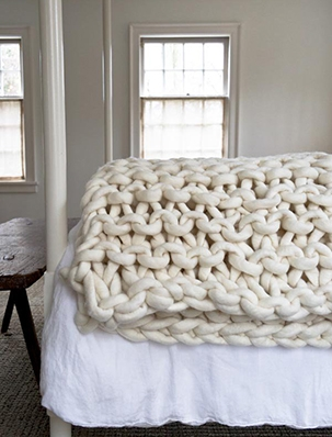 Big Little Dandelion Garter Blanket | Purl Soho