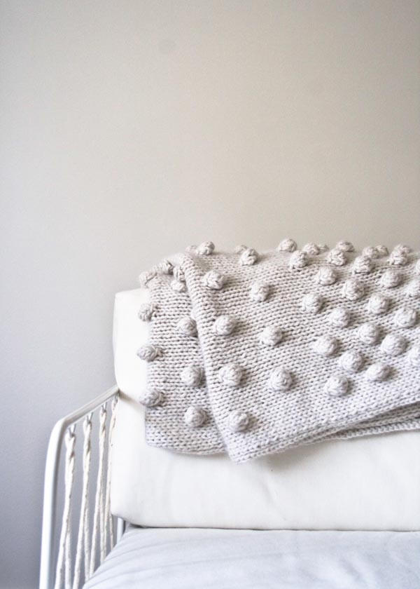 Knitting Pattern For Bobble Blanket : Falling Bobbles Blanket Purl Soho