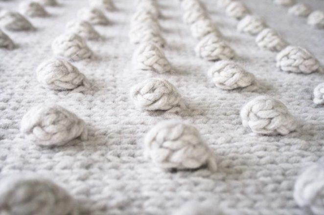 Falling Bobbles Blanket | Purl Soho