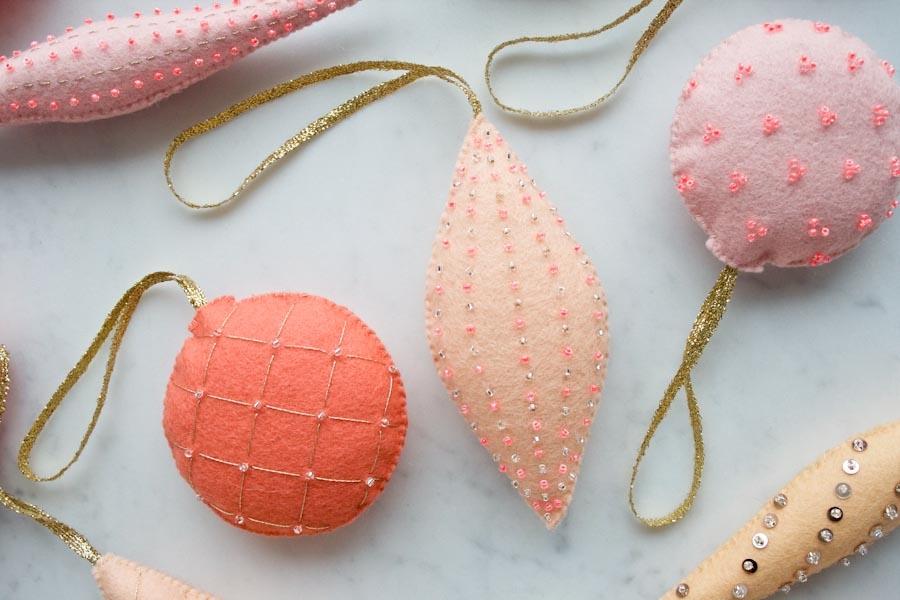 Heirloom wool ornaments purl soho