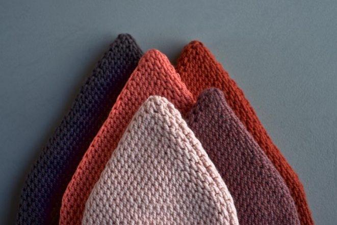 Tunisian Crochet Pointy Pom Pom Hat | Purl Soho