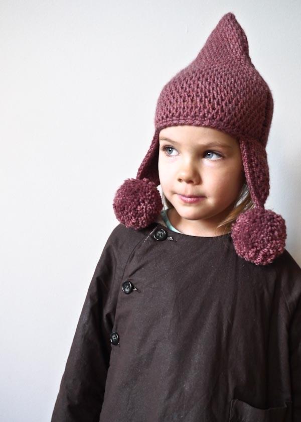 cf3c6d251 Tunisian Crochet Pointy Pom Pom Hat | Purl Soho