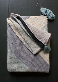 Rectangular Colorblock Bias Blanket