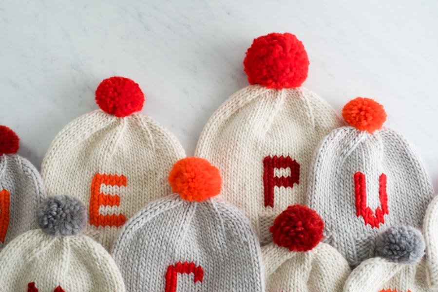 Knitting Letters Into A Hat : Monogrammed hats for everyone purl soho