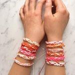 Braided Friendship Bracelets for Valentine's Day