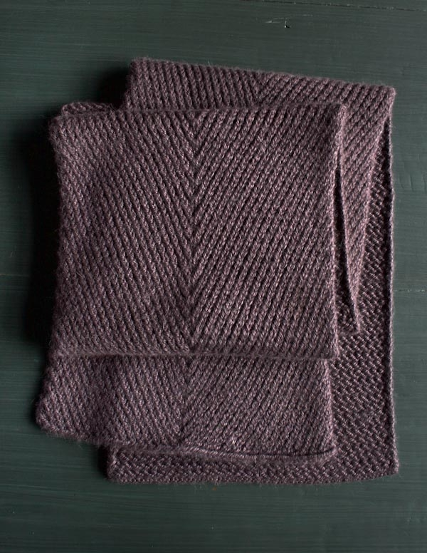 Diagonal Twist Scarf | Purl Soho