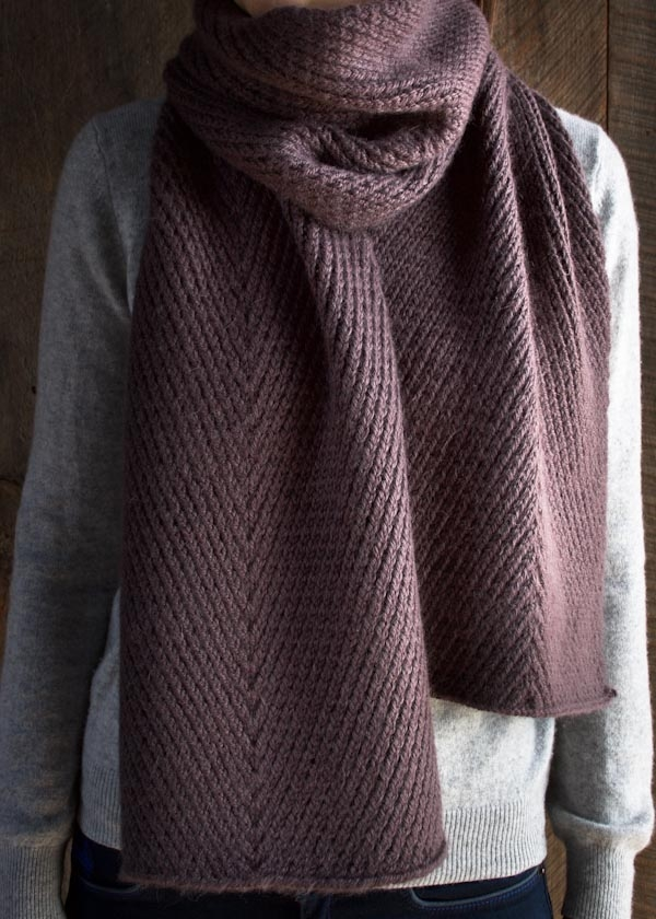 Knit And Purl Scarf Patterns : Diagonal Twist Scarf Purl Soho