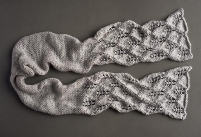 Lovely Leaf Lace Scarf in Lanecardate Feltro | Purl Soho