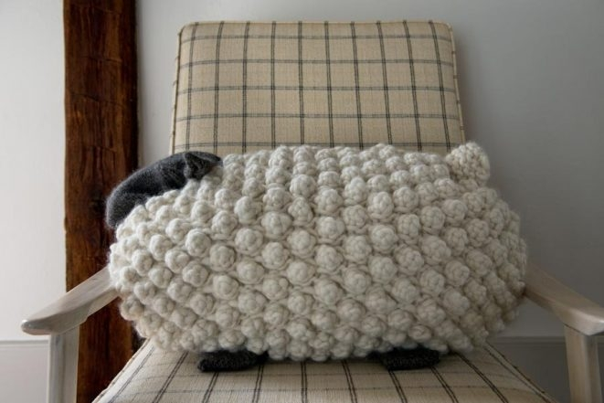 Bobble Sheep Pillow in Gentle Giant Purl Soho