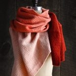 New Color! Our Cashmere Ombré Wrap in Vermilion
