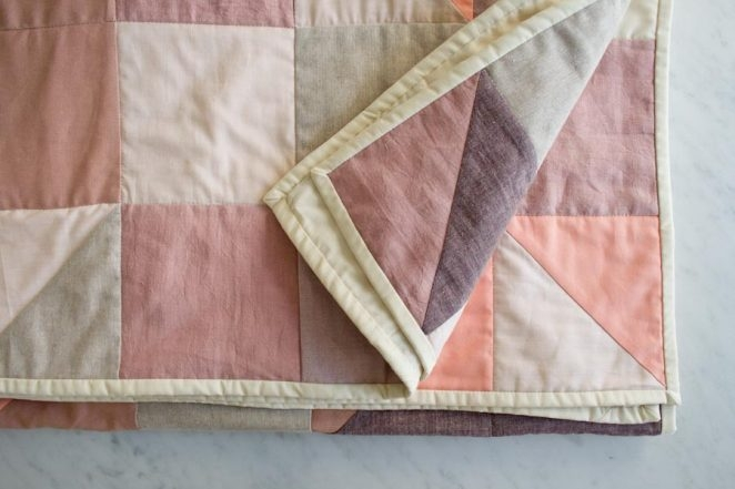 Modular Blocks Quilt in Orchid | Purl Soho