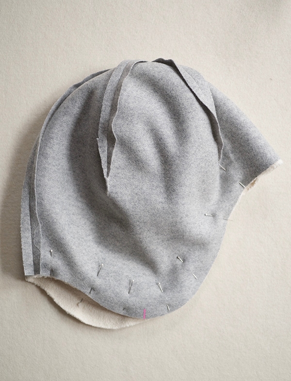 Attach the Outer Hat and Lining. Wool + Cotton Sewn Ear Flap Hat  e29b8ef93513
