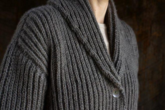 Top-Down Shawl Collar Cardigan | Purl Soho