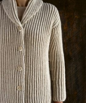 Top-Down Shawl Collar Cardigan
