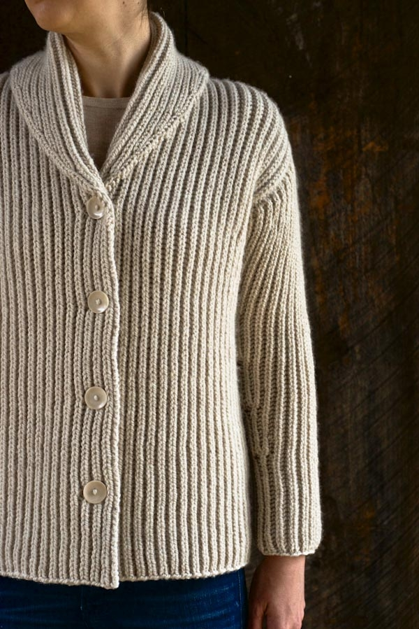 Top-Down Turtleneck Cardigan Purl Soho