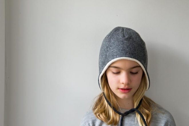 65059fe3bc3 Wool + Cotton Sewn Ear Flap Hat