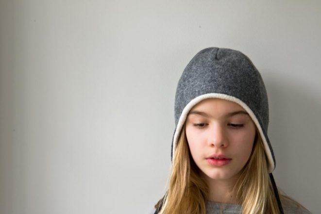 Wool + Cotton Sewn Ear Flap Hat  8cab4d712d5