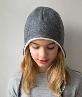 Wool + Cotton Sewn Ear Flap Hat