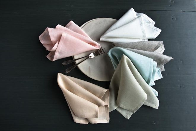 Classic Mitered Corner Napkins in Early Spring Bundle | Purl Soho