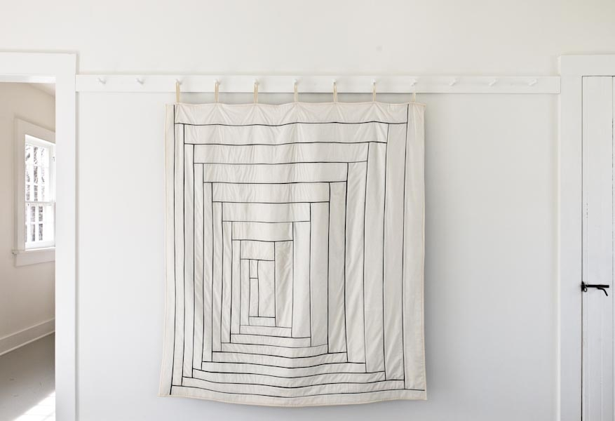 Fine Line Log Cabin Quilt | Purl Soho