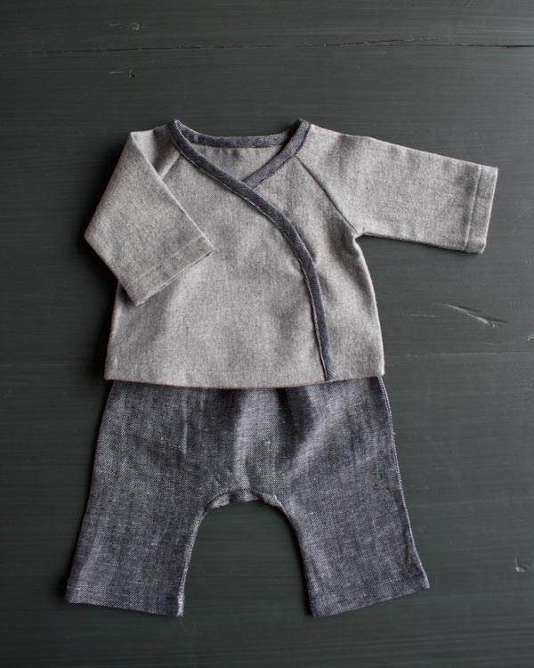 Sewn Layette in Cozy Flannel | Purl Soho