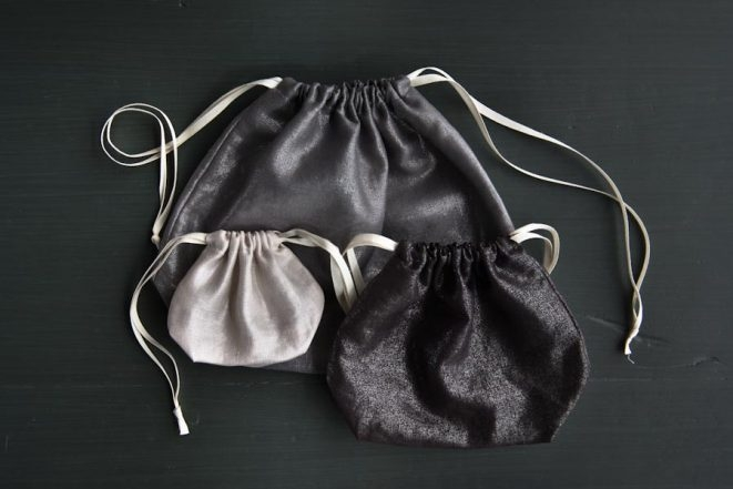 Easy Drawstring Bags in Mineral Linen | Purl Soho