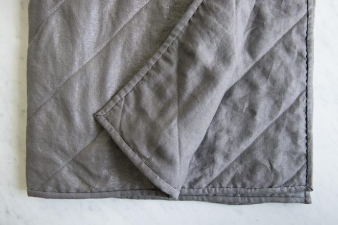 Wholecloth Quilts in Mineral Linen | Purl Soho