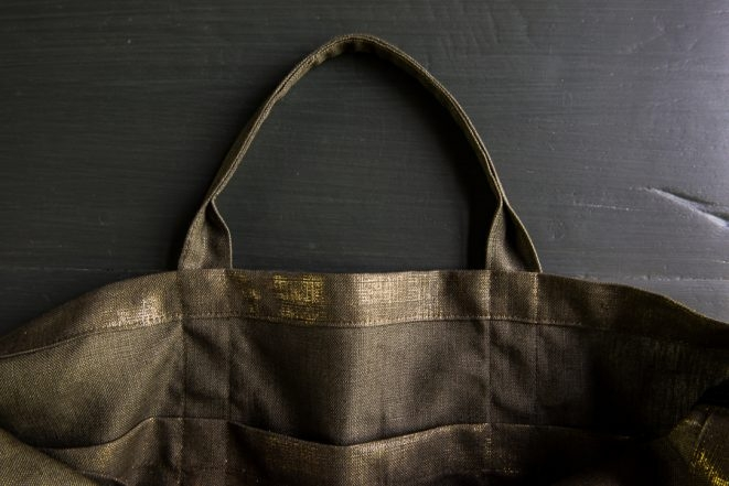 Hand Tote in Mineral Linen | Purl Soho