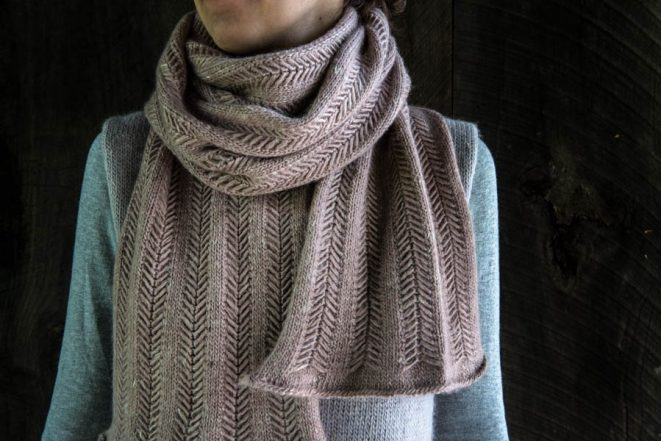 Jasmine Scarf, Now in Rose Granite | Purl Soho