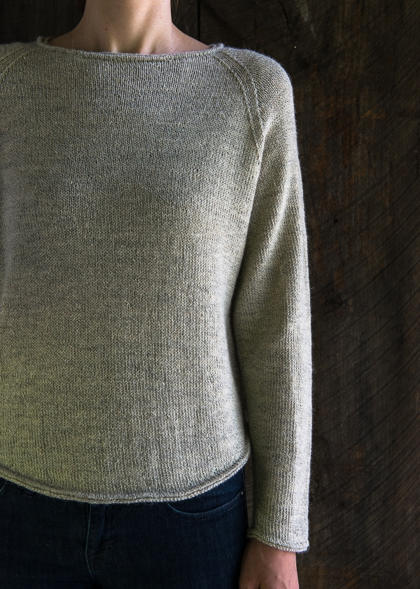 Simple Sweater Knitting Patterns For Beginners : Lightweight Raglan Pullover Purl Soho