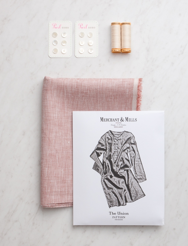 Merchant & Mills' Union Dress in Watercolor Linen | Purl Soho