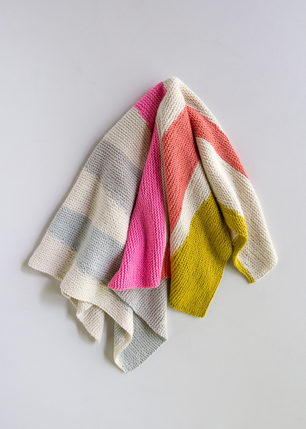 Colorful Wedges Baby Blanket Purl Soho