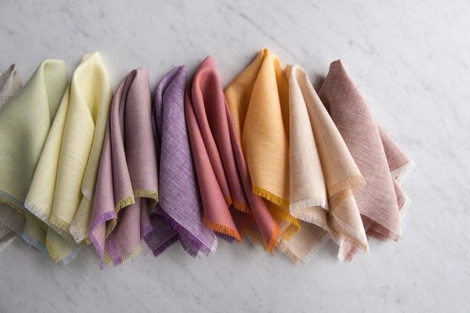 Fringed Napkins in Watercolor Linen | Purl Soho