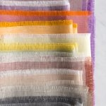 Fringed Napkins in Watercolor Linen