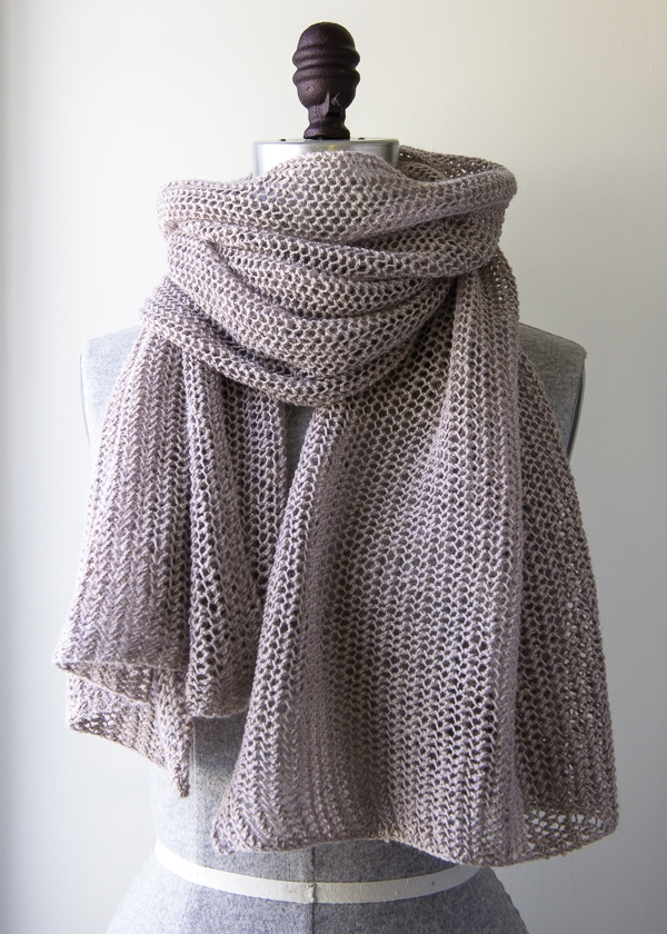 Open Air Wrap In Linen Quill Purl Soho