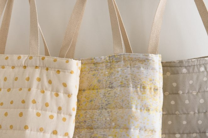 Puffy Tote in Nani Iro's Quilted Double Gauze | Purl Soho