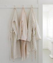Women's Robe in Linen Grid | Purl Soho