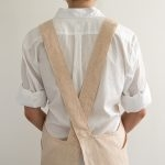 Cross Back Apron in Watercolor Linen