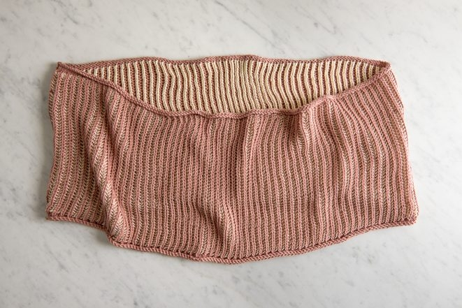 Two-Color Cotton Cowl | Purl Soho